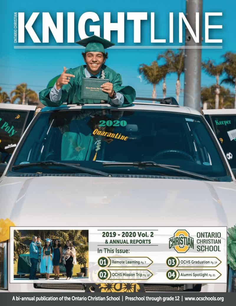 Knightline 2019-2020 Volume 2 Magazine Cover