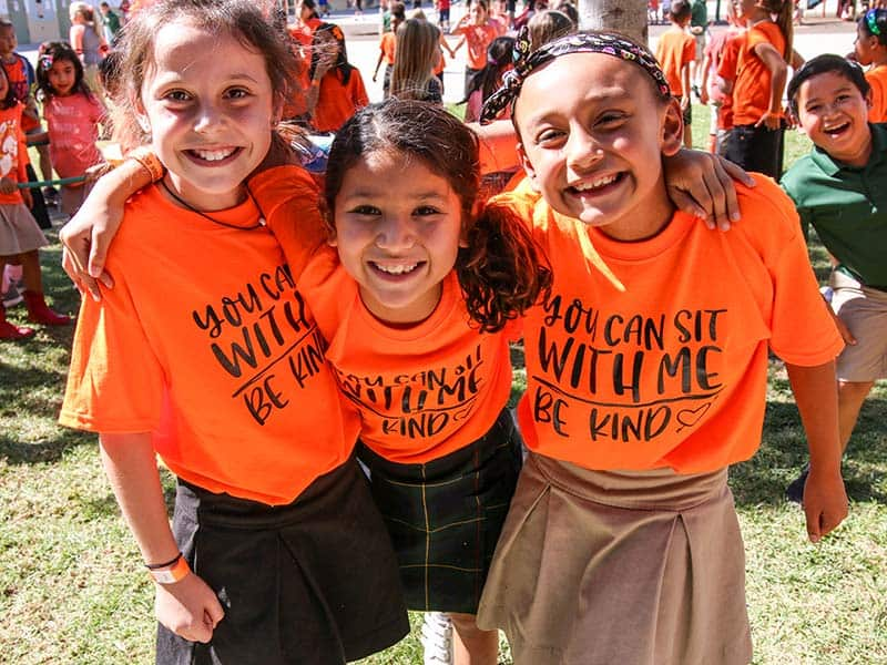 Elementary students at Ontario Christian School celebrate unity day with our School Counselor