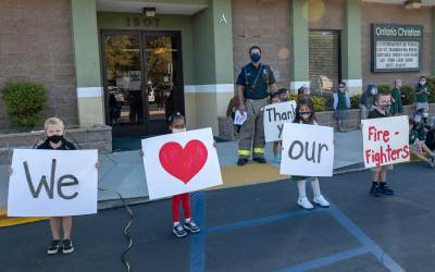 Ontario Christian Kindergarten Serves First Responders