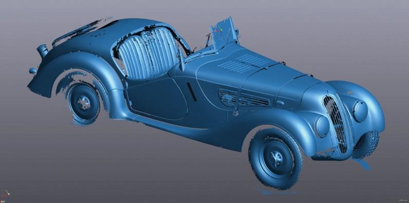 Trotz des Einsatzes von 3D-Hochleis-tungs-Scannern sind die Datensätze des 3D-Modells zunächst noch sehr roh und müssen von Hand aufwendig bearbeitet werden.
