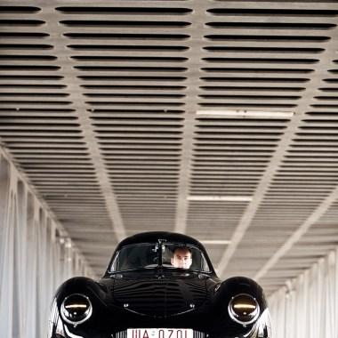 Der Stromlinienwagen Porsche Typ 64 frontal
