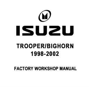 Isuzu Trooper/Bighorn 1998-2002 Factory Manual CD-Rom 3.5