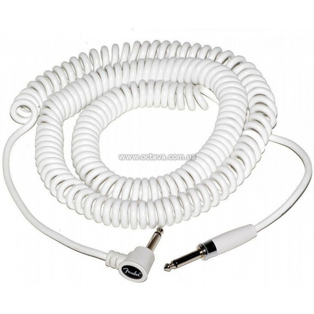 Reinforced 10-foot coiled cord with right angle.