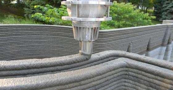 Print 3d cu beton pentru proiecte de case