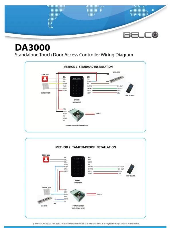 BELCO DA3000 Standalone Door Access
