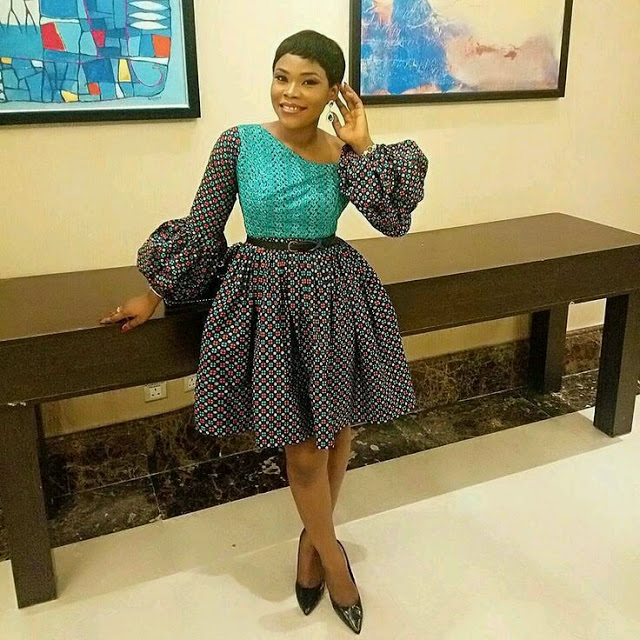 checkout these creative, unique and modern ankara dress styles - Ankarastyles2018 Od9jastyles2810129 - Checkout These Creative, Unique and Modern Ankara Dress Styles