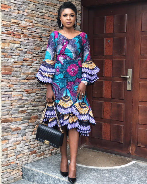 checkout these creative, unique and modern ankara dress styles - Ankarastyles2018 Od9jastyles2810929 - Checkout These Creative, Unique and Modern Ankara Dress Styles