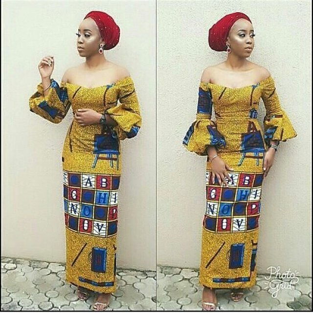 checkout these creative, unique and modern ankara dress styles - Ankarastyles2018 Od9jastyles285529 - Checkout These Creative, Unique and Modern Ankara Dress Styles