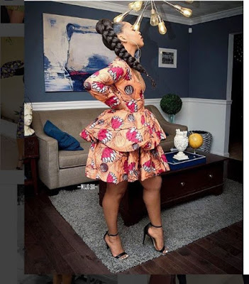 Ankara Short Flare Gown 20 Photos of Latest and Trending Ankara Short Flare Gowns For Any Occasion 2019