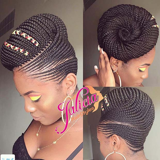Braided Updo Idea for African American Women 23 Trendy Ways to Rock African Braids