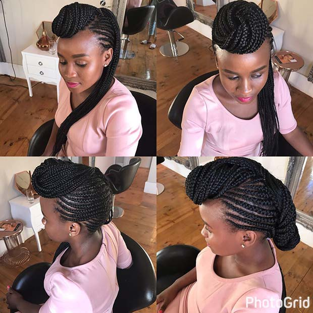 Creative Feed In Braids Hairstyle 23 Trendy Ways to Rock African Braids