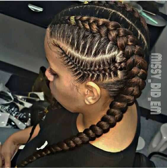 Side Cornrows and COlored Braids 20 PHOTOS: Side Cornrow Hairstyles For Special Look – Cornrow Braids