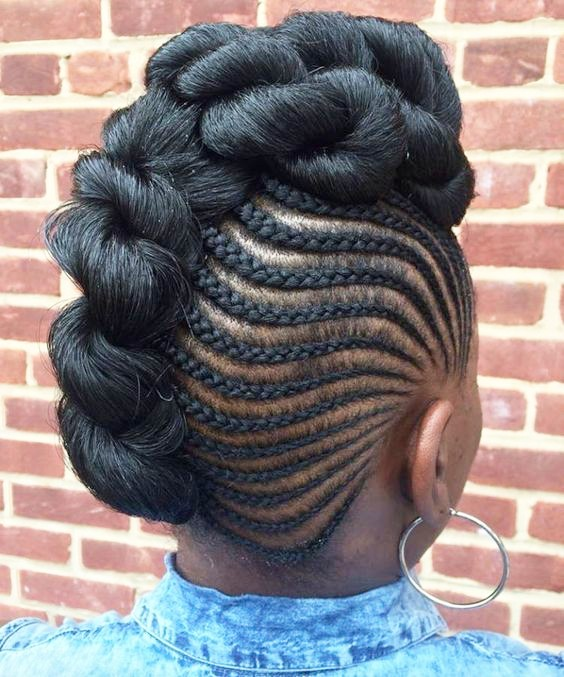 Side COrnrows WIth Topknot 20 PHOTOS: Side Cornrow Hairstyles For Special Look – Cornrow Braids