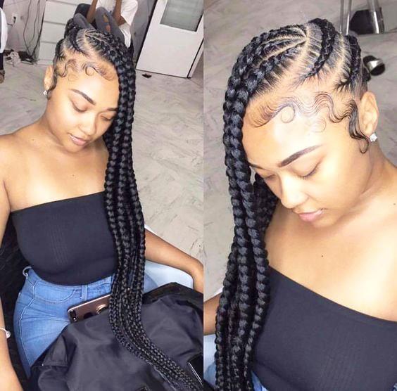 Long Braided Side COrnrows 20 PHOTOS: Side Cornrow Hairstyles For Special Look – Cornrow Braids