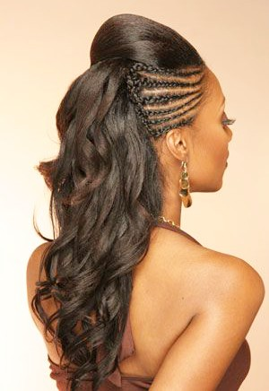 The natural hair with SIde Cornrows 20 PHOTOS: Side Cornrow Hairstyles For Special Look – Cornrow Braids