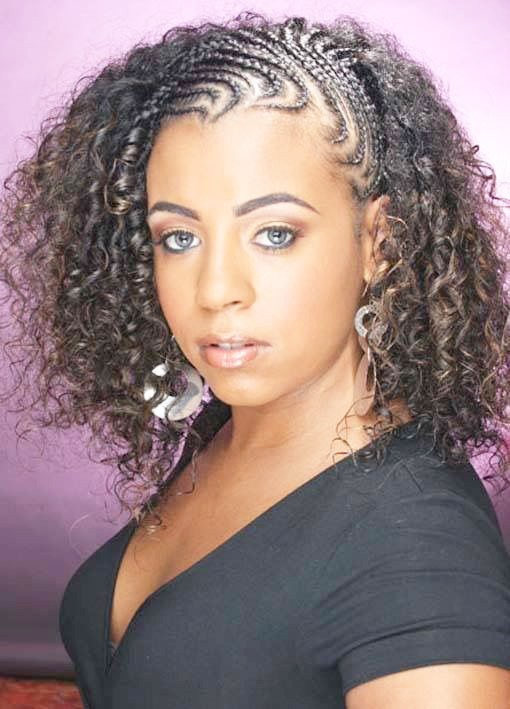 Coil and COrnrows 20 PHOTOS: Side Cornrow Hairstyles For Special Look – Cornrow Braids