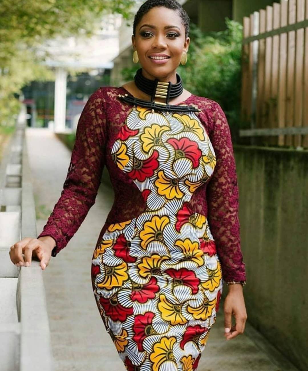 Ankara Style Mixed With Lace Od9jastyles Com