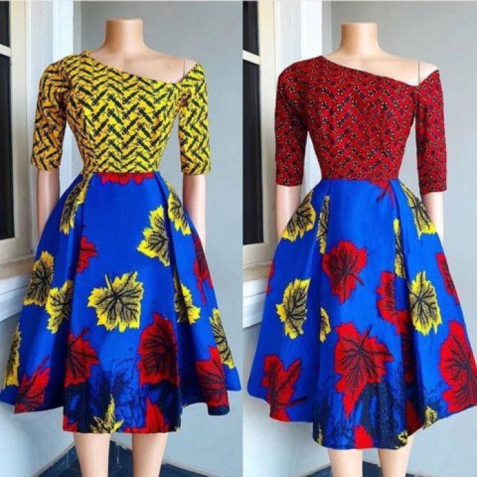 Classy Ankara Short Flare Gown African Ankara Styles 2019