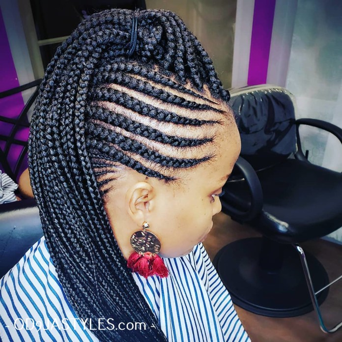 Braided Hairstyles for Black Women braided hairstyles for black women - braided hairstyles for black women 6 - Hottest Braided Hairstyles for Black Women: Creative African Styles for 2020