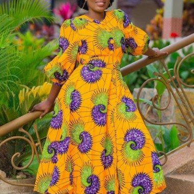 ankara latest styles - Ankara Latest Styles 63 380x380 - African Fashion: 70+ Creative, Trendy and Stylish Ankara Latest Styles