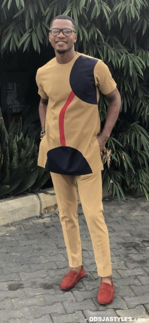 Native Casual Dress Outfits for Nigerian Men native casual dress outfits for nigerian men - Native Casual Dress Outfits for Nigerian Men 7 297x640 - Smart Native Casual Dress Outfits for Nigerian Men