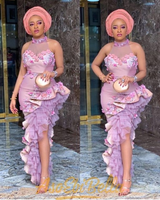 Aso Ebi Styles 2020 aso ebi styles 2020 - Aso Ebi Styles 2020 24 512x640 - 30 Aso Ebi Styles 2020 For Classy African Ladies To Try Out