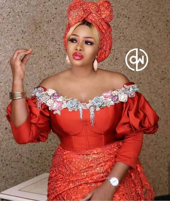 50 Most Beautiful and Creative Wedding Guest Styles You Will Love wedding guest styles - od9jastyles aso ebi styles 1 540x640 - 100 Most Beautiful and Creative Wedding Guest Styles You Will Love