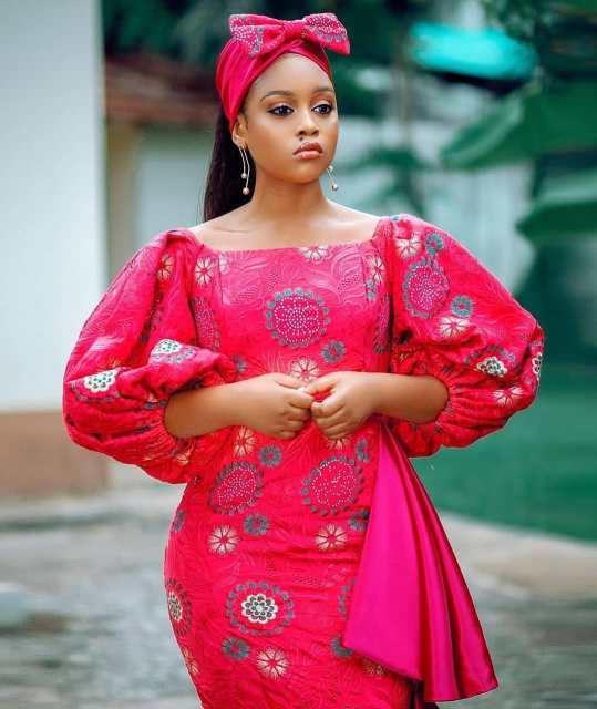 50 Most Beautiful and Creative Wedding Guest Styles You Will Love wedding guest styles - od9jastyles aso ebi styles 7 539x640 - 100 Most Beautiful and Creative Wedding Guest Styles You Will Love