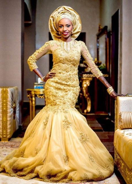 Gold Lace AsoEbi Dresses gold lace asoebi styles - IMG 8846 458x640 - These 25 Gold Lace AsoEbi Dresses Are Nothing But Stunning and Gorgeous