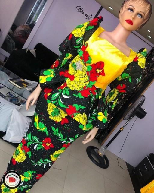 Peplum Skirt and Ankara Blouse Styles peplum skirt and ankara blouse styles - Peplum Skirt and Ankara Blouse Styles 12 512x640 - 45 Elegant and Stylish Ways To Rock Your Peplum Skirt and Ankara Blouse Styles