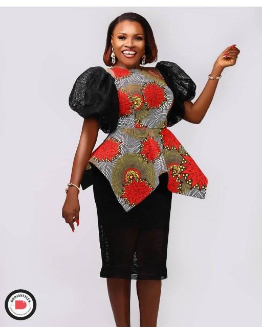 Peplum Skirt and Ankara Blouse Styles peplum skirt and ankara blouse styles - Peplum Skirt and Ankara Blouse Styles 14 512x640 - 45 Elegant and Stylish Ways To Rock Your Peplum Skirt and Ankara Blouse Styles