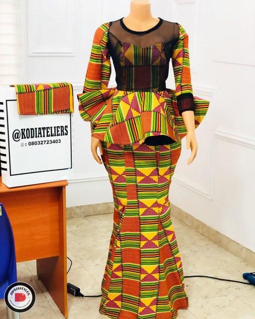 Peplum Skirt and Ankara Blouse Styles peplum skirt and ankara blouse styles - Peplum Skirt and Ankara Blouse Styles 19 512x640 - 45 Elegant and Stylish Ways To Rock Your Peplum Skirt and Ankara Blouse Styles