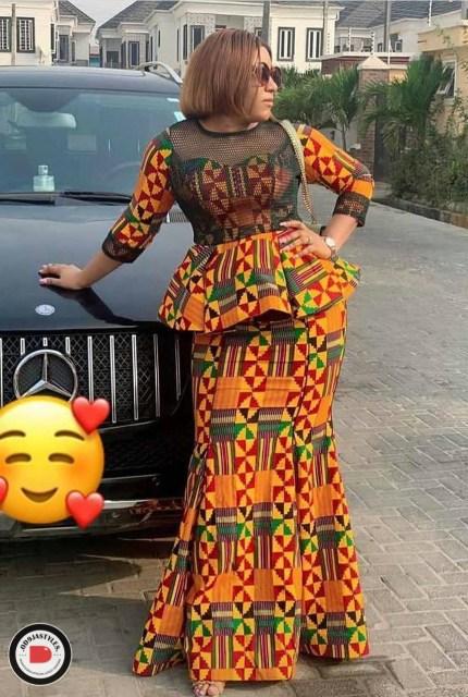 Peplum Skirt and Ankara Blouse Styles peplum skirt and ankara blouse styles - Peplum Skirt and Ankara Blouse Styles 8 430x640 - 45 Elegant and Stylish Ways To Rock Your Peplum Skirt and Ankara Blouse Styles