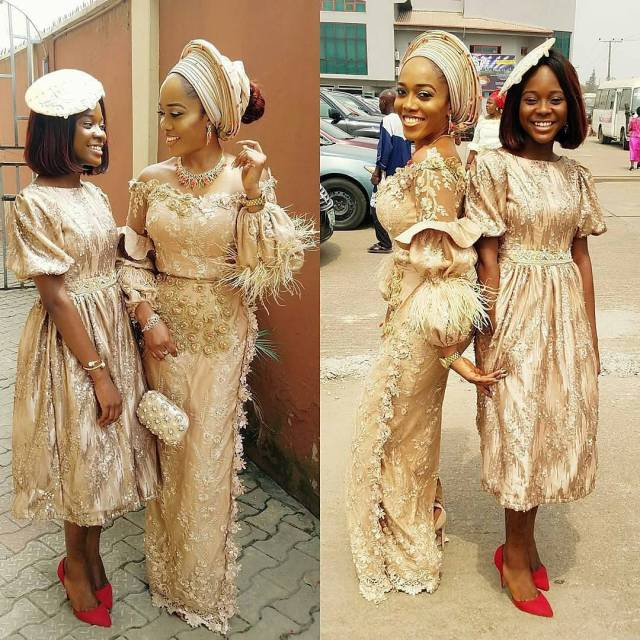 Gold Lace AsoEbi Dresses gold lace asoebi styles - asoebi  yomisummerhues X  honeybakes cake amillionstyles 640x640 - These 25 Gold Lace AsoEbi Dresses Are Nothing But Stunning and Gorgeous