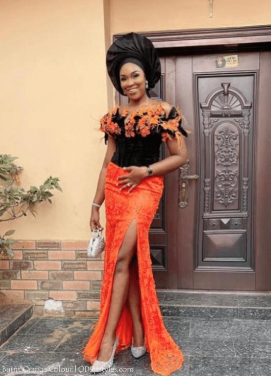 Irresistible Owambe Styles In Burnt Orange Colour
