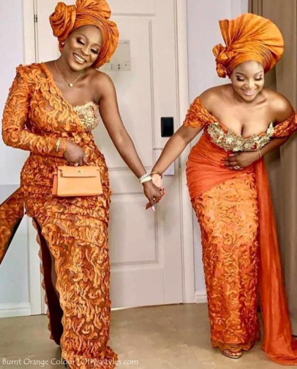 Irresistible Owambe Styles In Burnt Orange Colour nbspnbsp| OD9jastyles