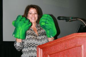 Mayda Sotomayor-Kirk of Seald Sweet International ends her presentation with a punch!