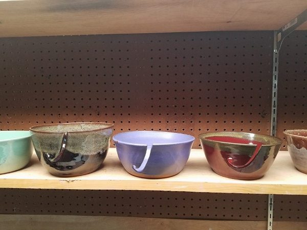 Yarn bowls in many colors