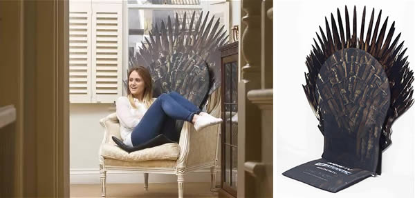 iron throne chair backboard kmart office chairs 10 of the coolest got renditions oddee up with now tv to give away a replica swords its own health and safety approved cushioned seat ever so slightly spiky