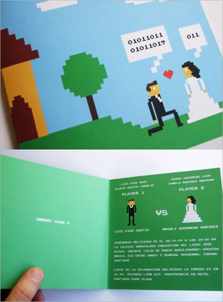 Created By Ilrator And Comic Artist Carla Berrocal This Cool 8 Bit Wedding Invitation Was Specially Designed For