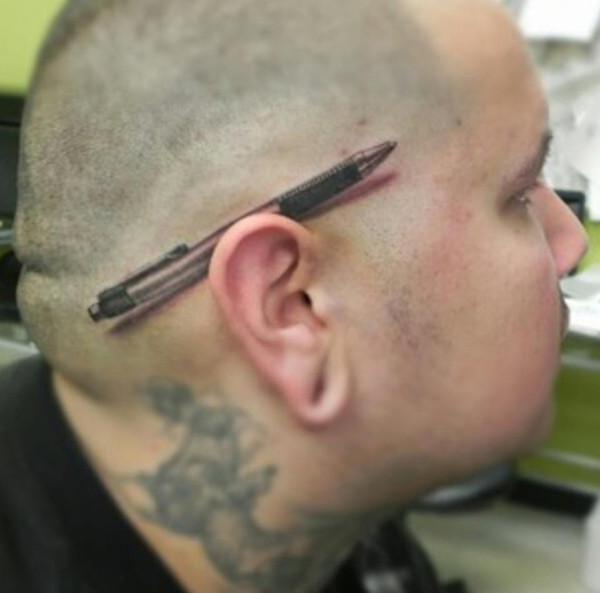 3d Hair Tattoo On Head
