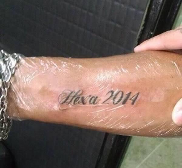 Meaningful Football Tattoos On Leg