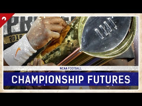 NCAA Football National Championship Futures Odds