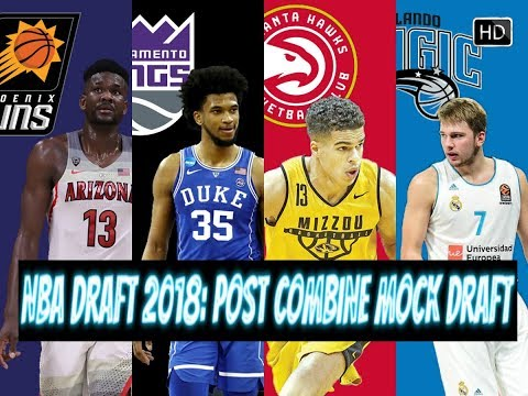 NBA DRAFT 2018: POST COMBINE MOCK DRAFT