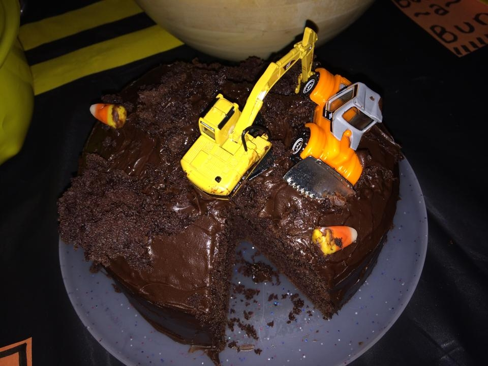 construction cake after