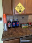 Construction Birthday Party Ideas - Fueling Station for drinks and beverages