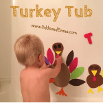 Bath Fun Toddlers Kids Craft Foam Turkey Tub