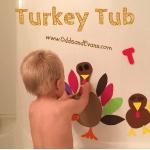 Bath Fun Toddlers Kids Craft Foam Turkey Tub