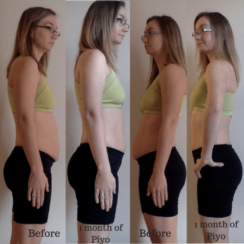 Before and after piyo side PiYo Shakeology Review