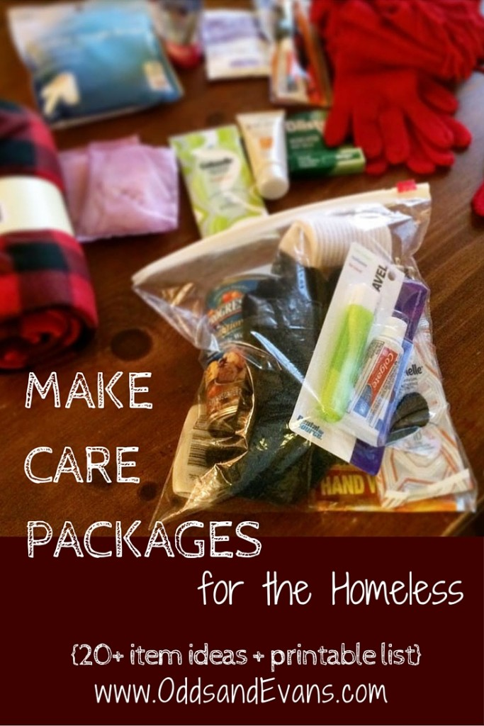 Homeless Care Packages plus Printable Lists